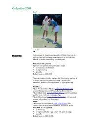 Golfpakke 2009 - Golf i Sverige