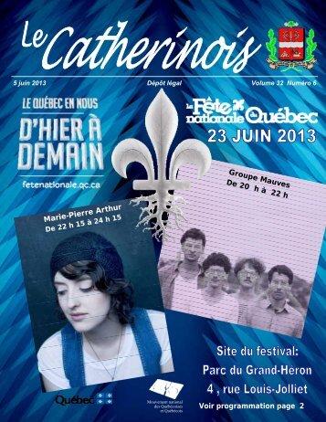 Juin 2013 - Ville de Sainte-Catherine-de-la-Jacques-Cartier