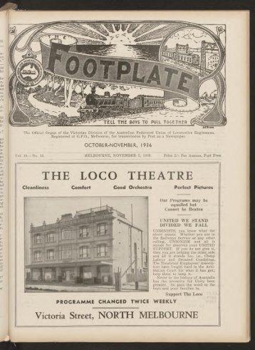 The Footplate: vol. 19, no. 10 (October-November, 1936)