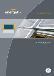 Montageanleitung - Energetik Solartechnologie-Vertriebs GmbH