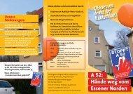 A 52 Flyer - Bürgerinitiative gegen den Weiterbau der A52