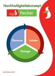 Nachhaltigkeitskonzept - Recker Feinkost GmbH