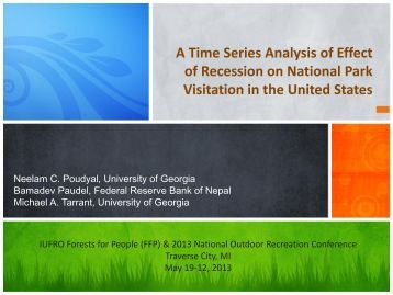 A Time Series Analysis of Effect of Recession on National Park ...