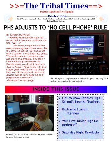 Issue 1 - October 2009 - Peebles High School