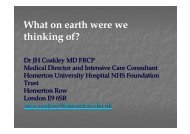 What on earth were we thinking of? - Homerton University Hospital