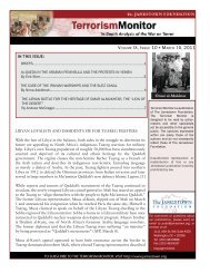 IN THIS ISSUE: Omar al-Mukhtar - The Jamestown Foundation