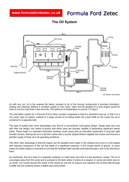 The Oil System Pdf Formula Ford Zetec