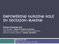 EMPOWERING NURSING ROLE IN DECISION-MAKING