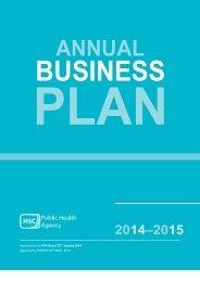 PHA Annual Business Plan 2014 15