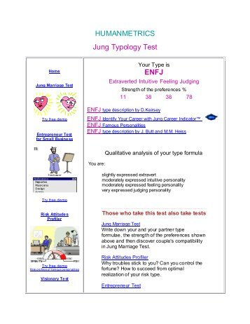 """jung typology enfj score Enfj essay 732 words  personality analysis and with a score of enfj,  from the human metrics jung typology test reports """"enfj"""" with a strong preference ."""