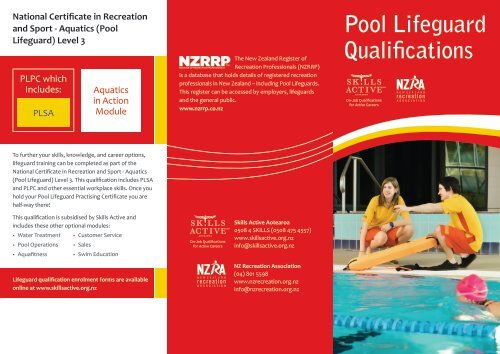 7b7d3727c4b2 Pool Lifeguard Brochure - Skills Active