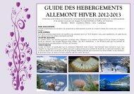 GUIDE DES HEBERGEMENTS ALLEMONT HIVER 2012-2013