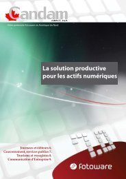 Les solutions Fotoware 7 - Candam