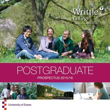 Writtle College Postgraduate Prospectus
