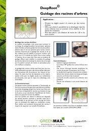 DeepRoot® Guidage des racines d'arbres - Hortima