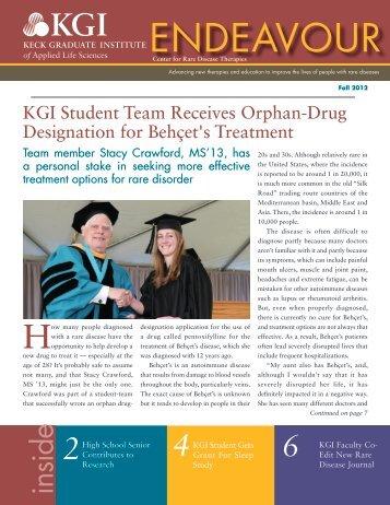 Endeavor Newsletter Fall 2012 - Keck Graduate Institute
