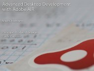 Advanced Desktop Development with Adobe AIR