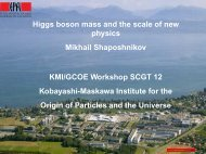 Higgs boson mass and the scale of new physics Mikhail ...
