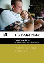 Policy Press catalogue 2010