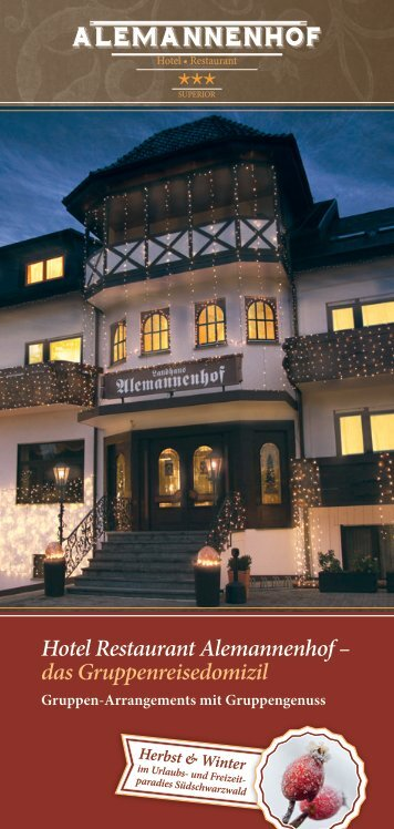 Gruppen-Arrangements Herbst & Winter - Alemannenhof-freiburg.de