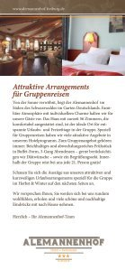 Gruppen-Arrangements Herbst & Winter - Alemannenhof-freiburg.de - Seite 2