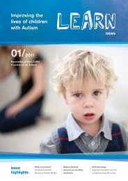 Learn News :: 01/2011 - LEARN Foundation for Autism