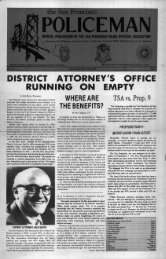 district attorney's office running empty - San Francisco Police ...