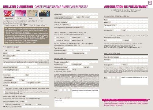 Carte American Express Justificatif Revenus.Formulaire D Adha C Sion A La Carte Fenua Orama American Express