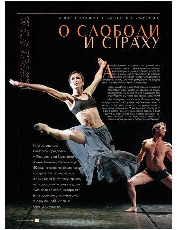 68-70 KULTURA Ahen Ataljanc, baletski umetnik O SLOBODI I ...