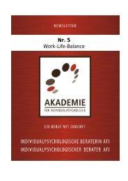 Nr. 5 Work-Life-Balance - Akademie für Individualpsychologie