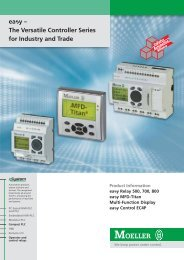ea y – The Versatile Controller Series for Industry and Trade - Moeller