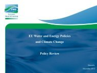 EU Water and Energy Policies and Climate Change Policy ... - Stream