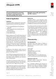 Ultrapack UVPK M a ra b u - Marabu Printing Inks