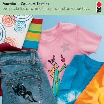 Marabu – Couleurs Textiles Des possibilités sans limite pour ...
