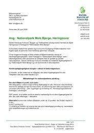 Høringssvar Mols national park - Dansk Handicap Forbund