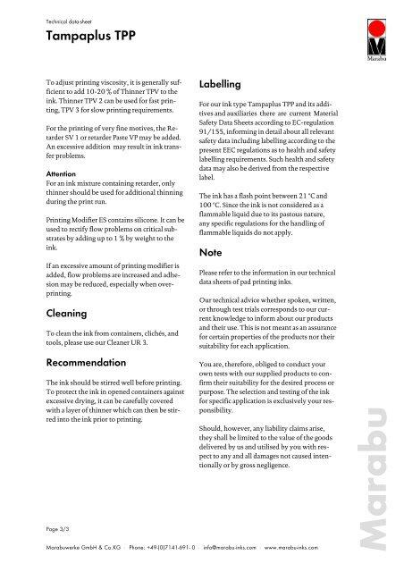 Technical data-sheet