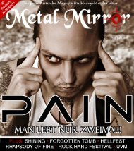 METAL MIRROR #55 - Pain; Shining; RockHard Festival 2011 ...