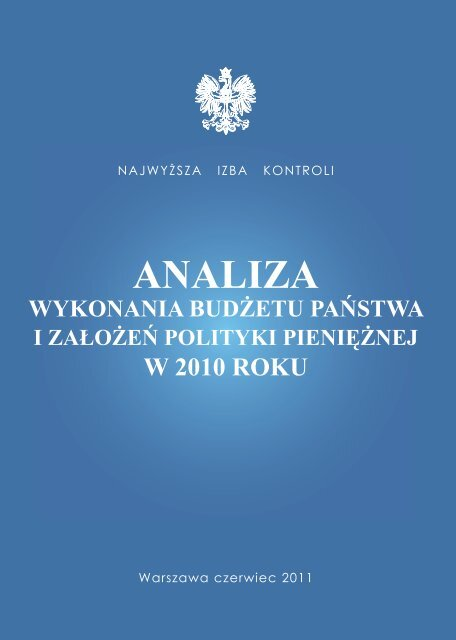 analiza wykonania budżetu państwa - Najwyższa Izba Kontroli