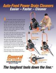 Auto-Feed Power Drain Cleaners - FocusOn Equipment Rentals