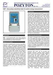 EAP - Zakład Elektronicznych Urządzeń Pomiarowych POZYTON Sp....