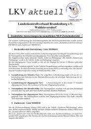 LKV aktuell - Landeskontrollverband Brandenburg eV