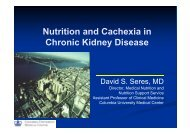 Nutrition and Cachexia in Chronic Kidney Disease - APCN 2010
