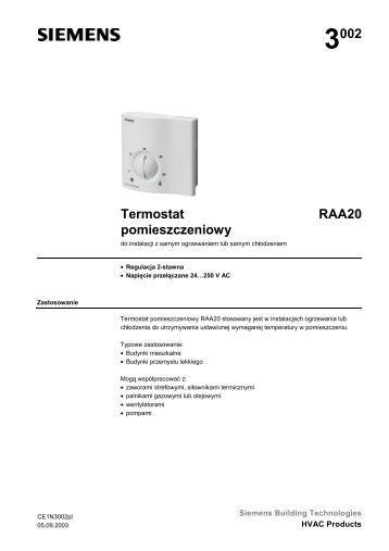 3002 Termostat pomieszczeniowy RAA20 - Panta