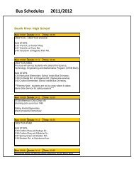Bus Schedules 2011/2012 - South River High School