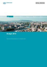 Budget 2013 - Zürich