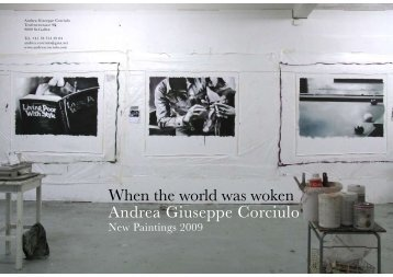 When the world was woken Andrea Giuseppe Corciulo