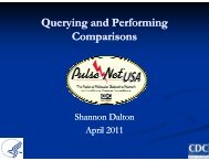 5. Querying and Performing Comparisons - PulseNet International