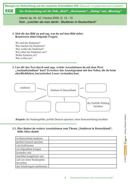 ãœbung Herunterladen Deutsch Lernen Mit Vitamin De