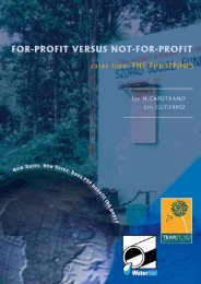 For profit versus not-for-profit: Cases from the Philippines - WaterAid