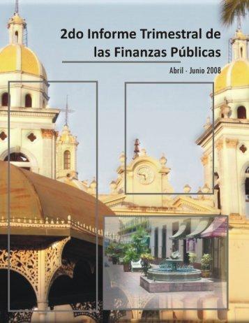 2008 Informe de finanzas públicas 2do Trimestre - Gobierno del ...